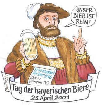 Tag des Bieres und Reinheitsgebots